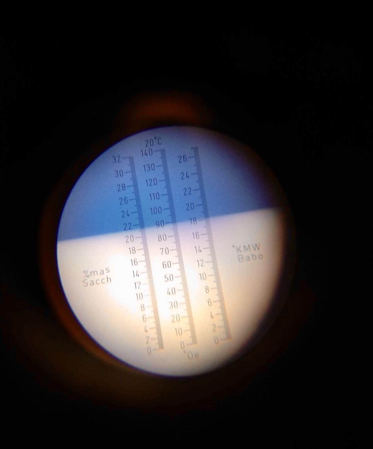 aflezen suikergehalte refractometer
