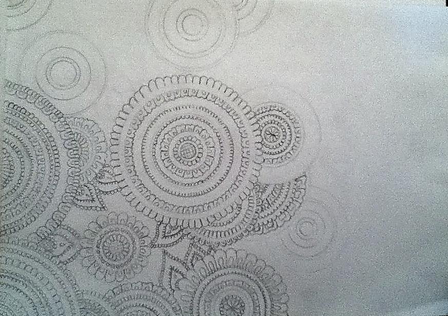 Mandalas Vorentwurf mit Bleistift