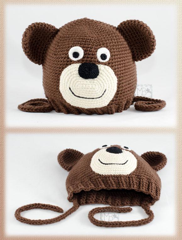 """Шапочка для малыша """"Медвежонок"""", Авторская работа / Beanie for baby """"Little bear"""", The work of authorship"""