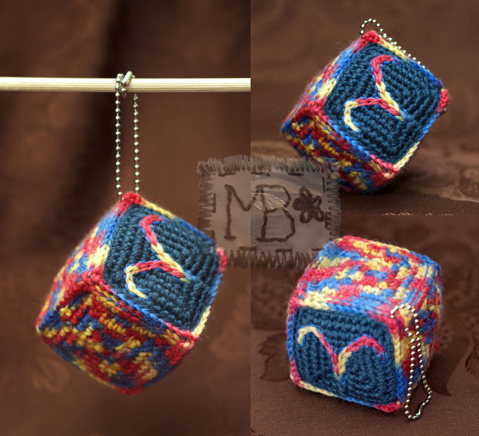 Радостный кубик Зодиак - Овен / Joyful Cube Zodiaс - Aries 6*6 cm  Авторская работа / The work of authorship