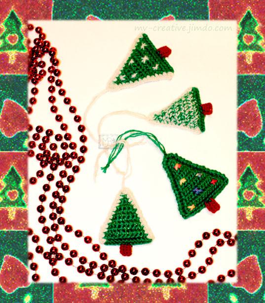Подвесные Елочки,  Авторская работа / Pendants Christmas Trees, The work of authorship