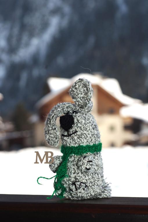 Австрийский Заяц / Austrian Hare - живет в Майрхофене у девочки Майи / lives in Mayrhofen with a little girl Maya 7,5 cm