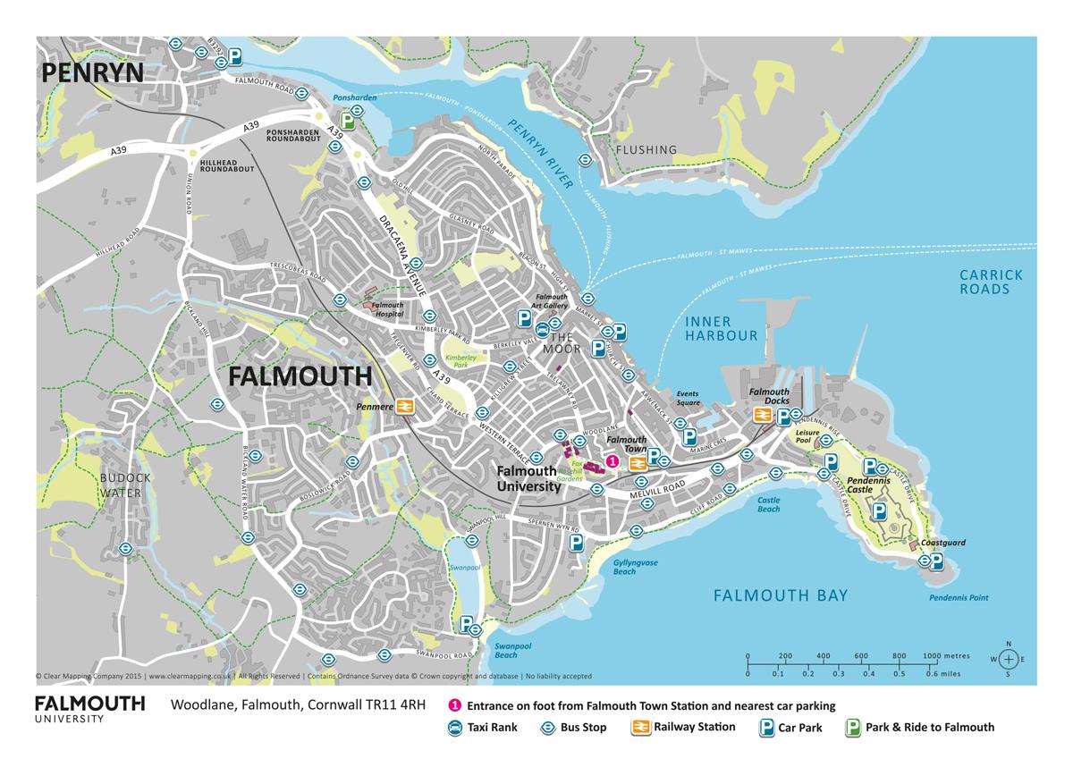 Karte Falmouth