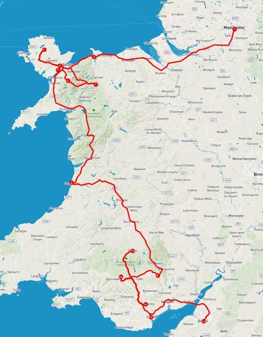 Wales - rot umrandet