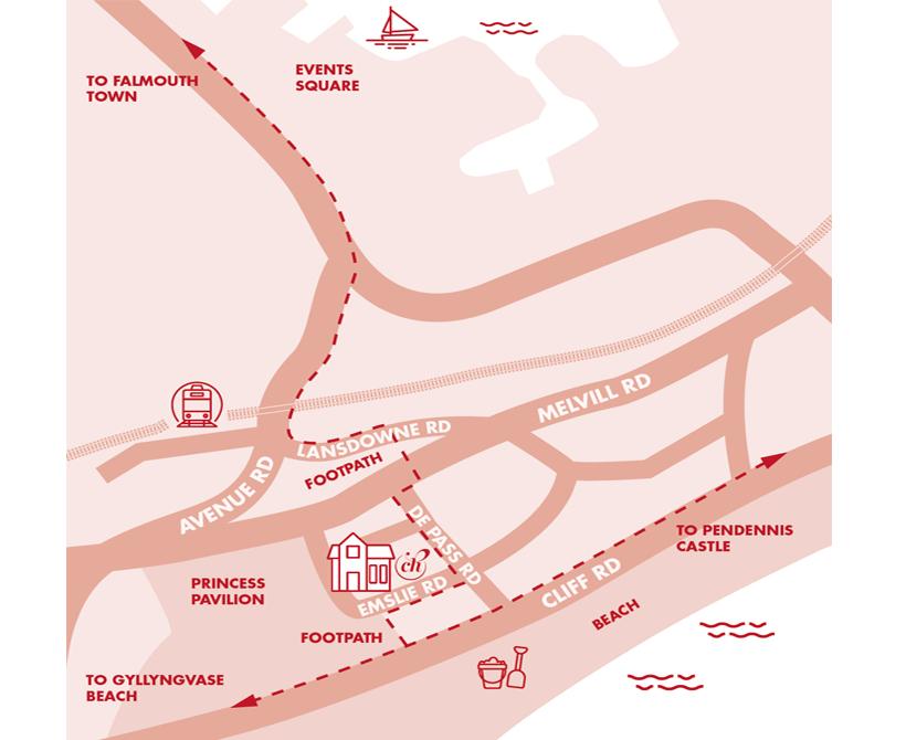 Karte Lage des Gästehauses