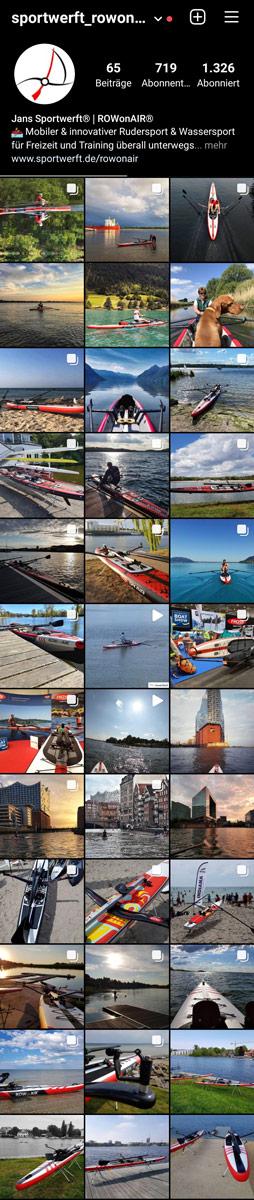 ROWonAIR Bildergalerie auf Instagram: rowonair.sportwerft
