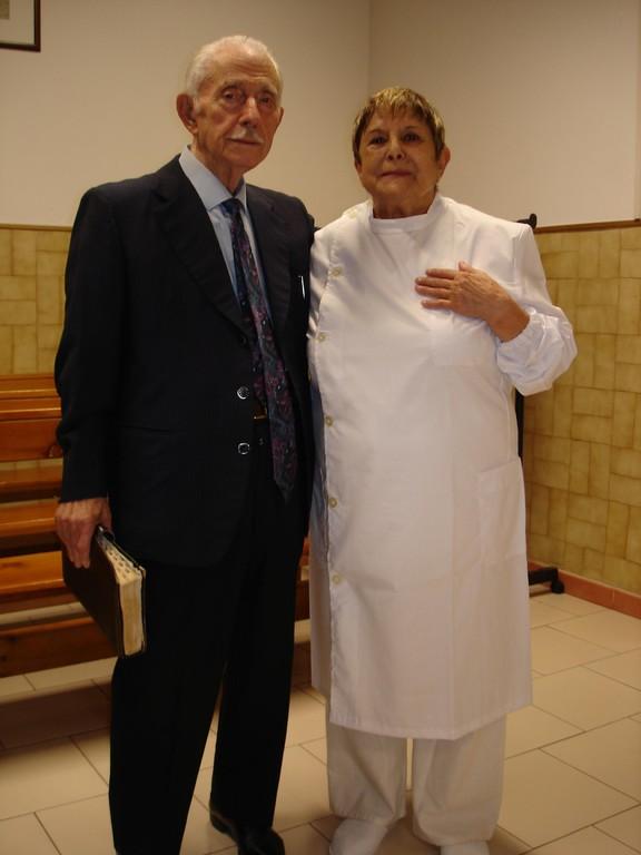 Pastore Ezio Evangelisti e Giovanna