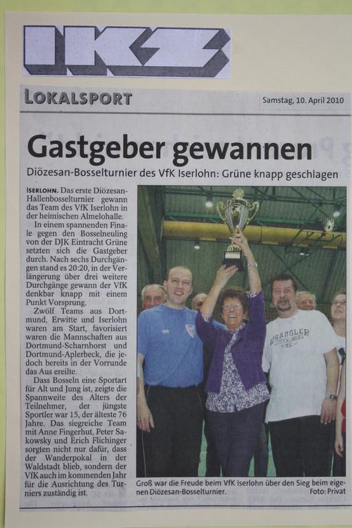 1. Diözesan Bossel Turnier 2010