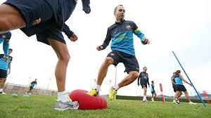Proprioception  de la cheville durant entrainement de foot