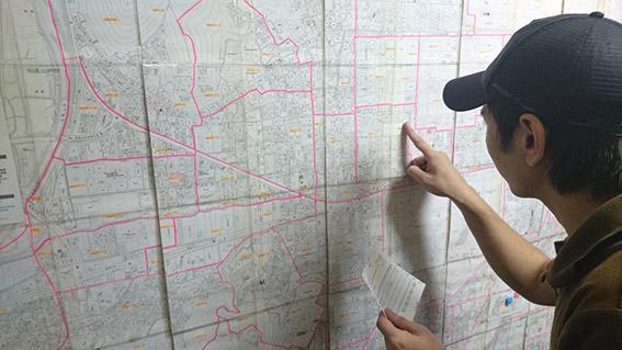 大きな商圏MAPで目的地・道の確認