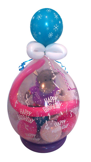 Geschenkidee zum Geburtstag, oder einfach mal so: Stuffed Balloon mit Stofftier