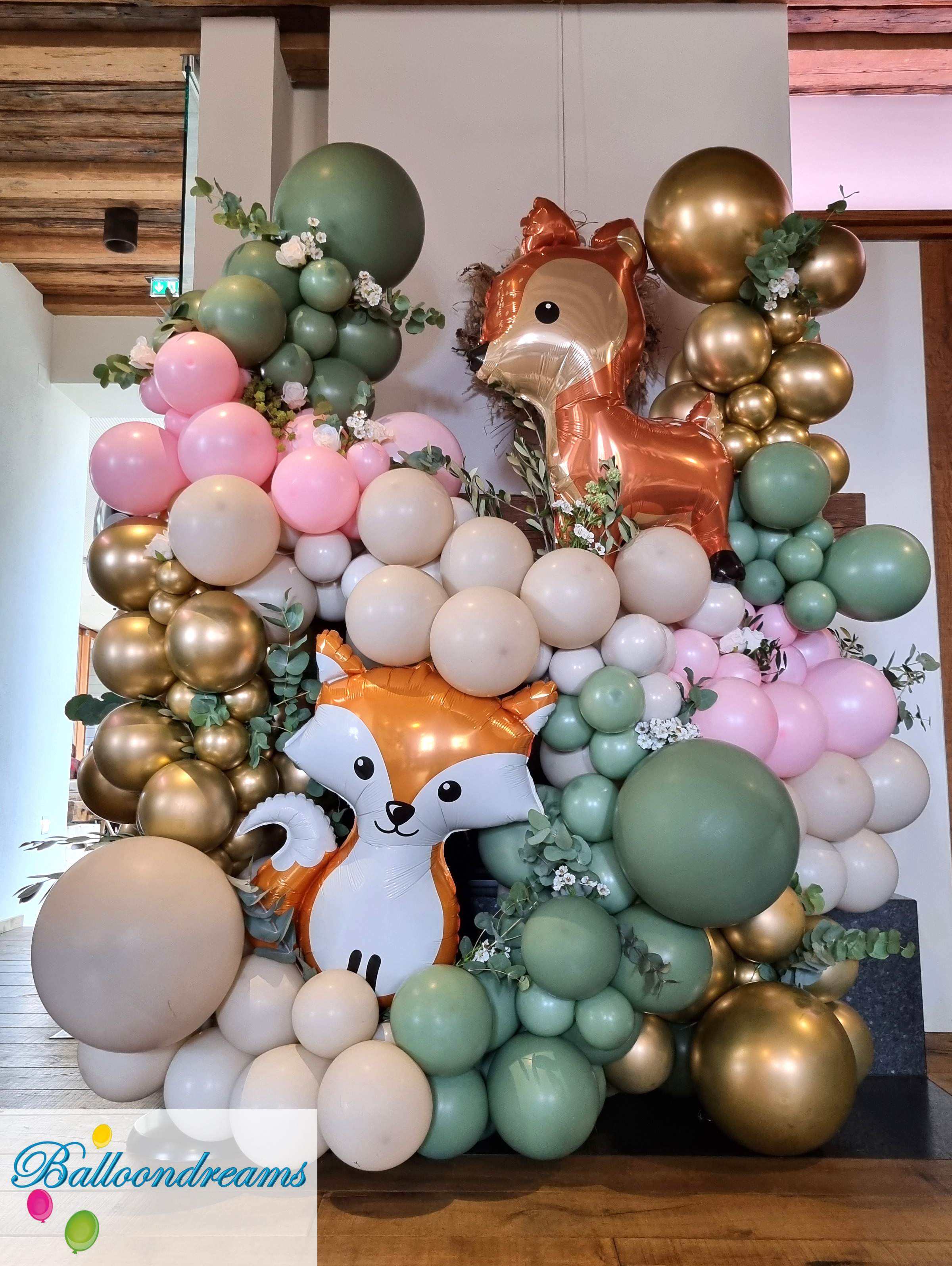 Ballonfiguren Giraffe, Tiger, Clown