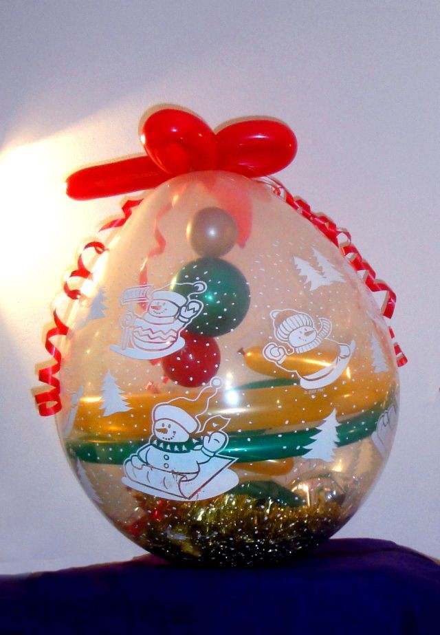 Suffed Balloon - Weinachtsgeschenke aussergewöhnlich verpackt