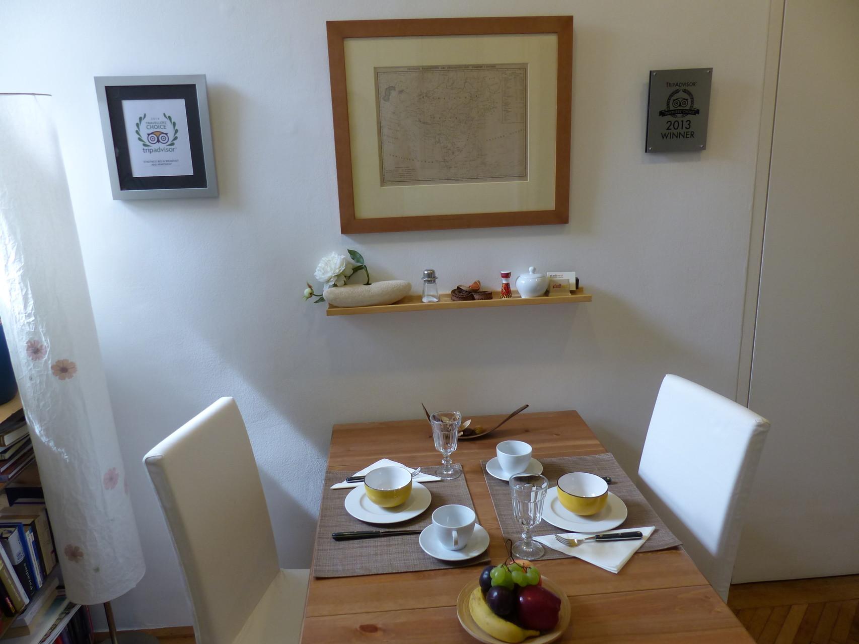Frühstücksplatz im Eingangsbereich