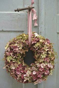 Magical Hydrangea, couronne de fleurs coupées