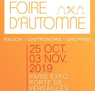 Foire d'automne - Paris Porte de Versaille - Octobre-Novembre 2019