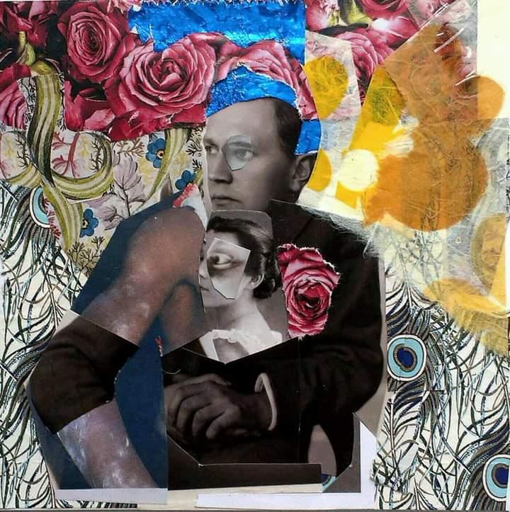 Summer Secret . Collage . 17 x 17 cm . 2020
