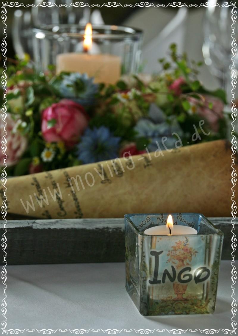 Idee für Menükarte Hochzeit