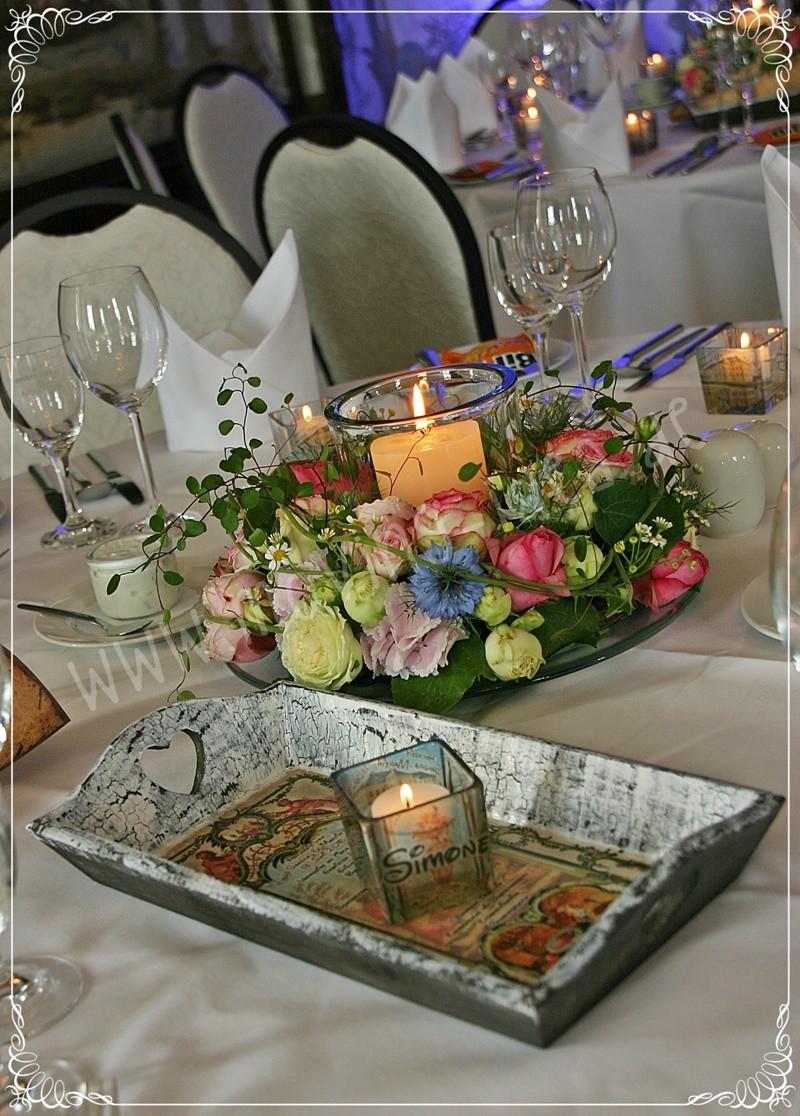 Tischdeko für Hochzeit
