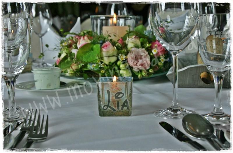Namensschild Hochzeitstisch