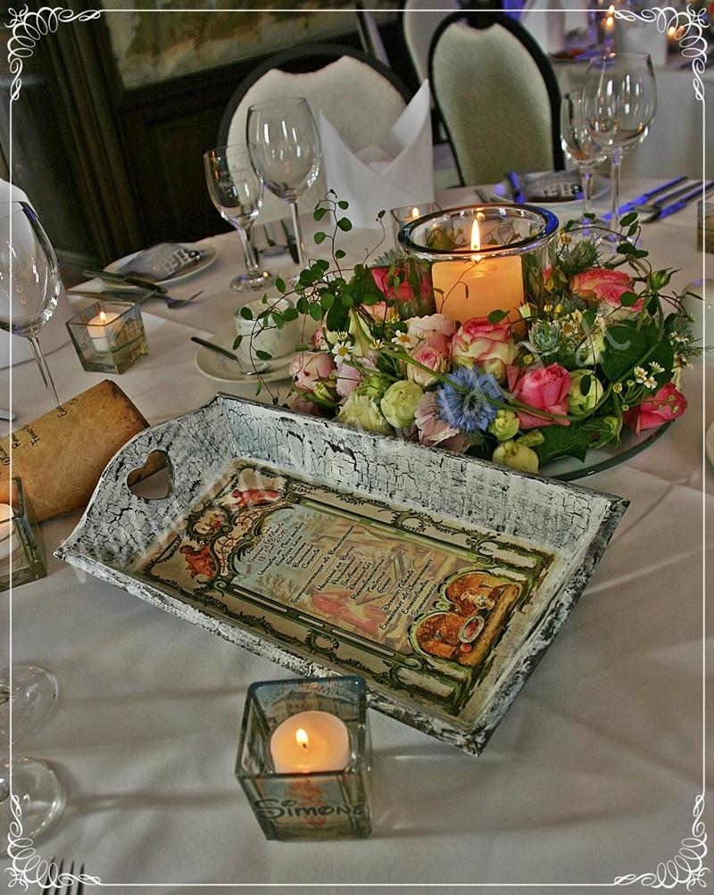 Menükarte zur Hochzeit selber gestalten