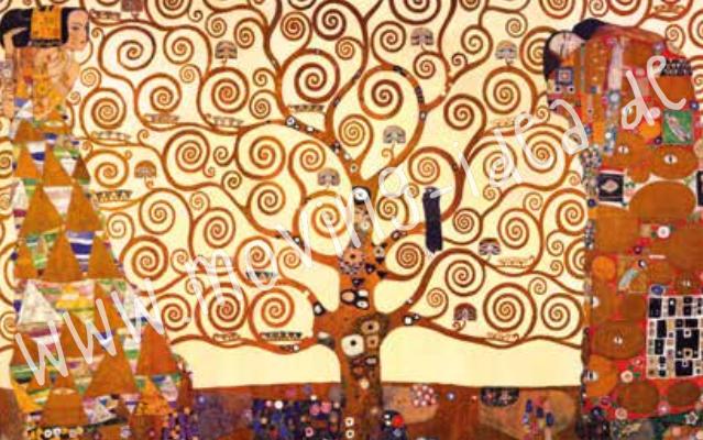 """Reispapierdruck mit dem Motiv """"Klimt - die Umarmung"""" für Serviettentechnik im Format 74 x 90 cm"""