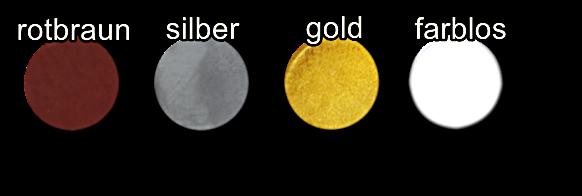 Farbpalette Patina gold silber braun farblos