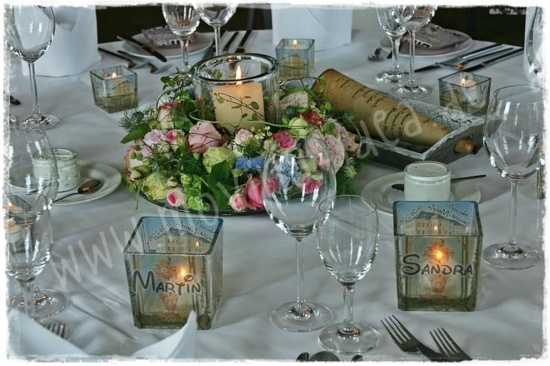 Wer kennt schöne Tischdeko zur Hochzeit