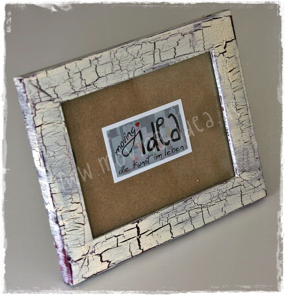 Shabby Chic Bilderrahmen handgestaltet - moving idea