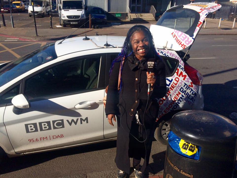 Reporting on the streets of Birmingham!