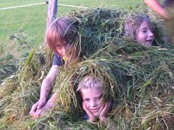 Jede Menge Spaß im Gras.