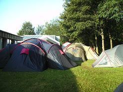 Unser Zeltlager beim Jugendheim in Kurtscheid.