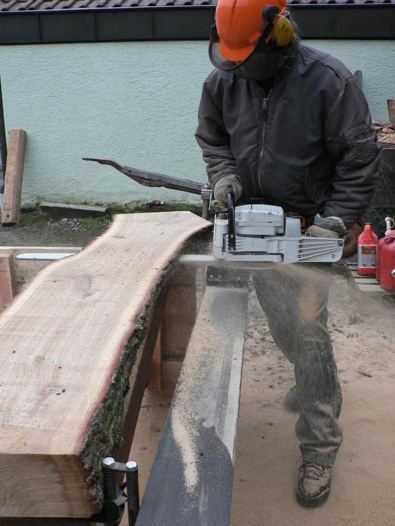 Mobiles Sägewerk mit Baumtreppe