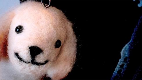 羊毛フェルト犬2
