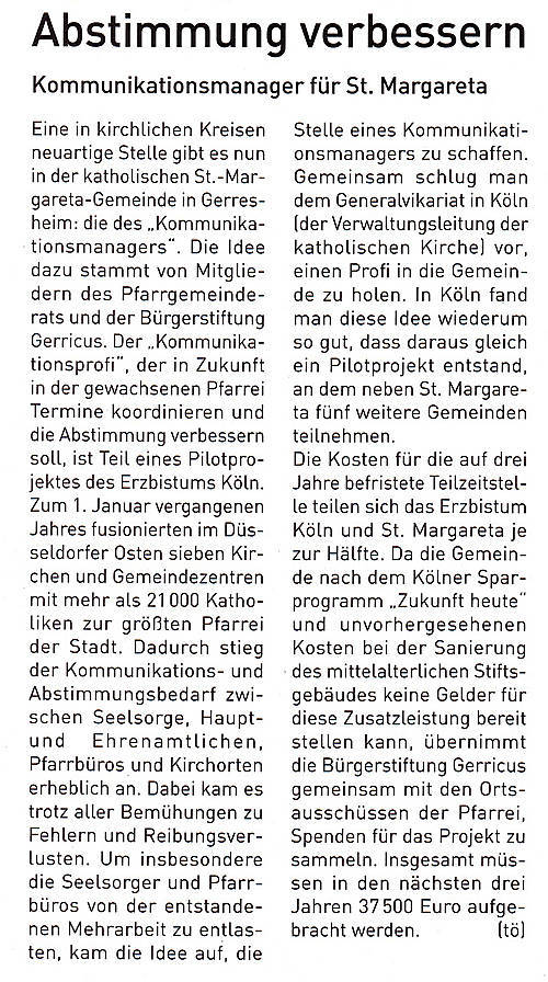 01/2012, Gerresheimer Gazette