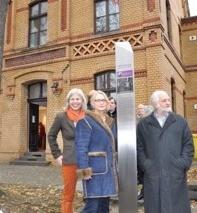 v.l.: Barbara Krug (Bürgerstiftung Gerricus), Dagmar Wensel (Stifterin), Prof. Niklaus Fritschi (FKI)