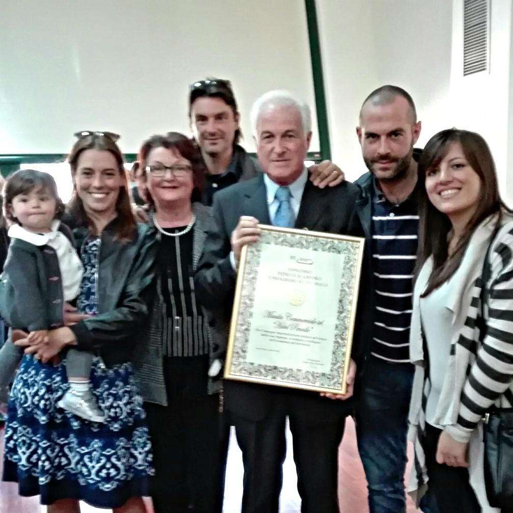 La famiglia Ciucci al completo, con anche la piccola Anna