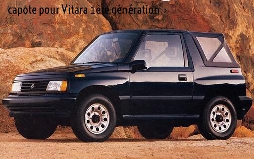 Bache & capote pour Suzuki Vitara mk1 - première génération