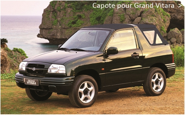 Capote pour Suzuki Grand Vitara cabriolet
