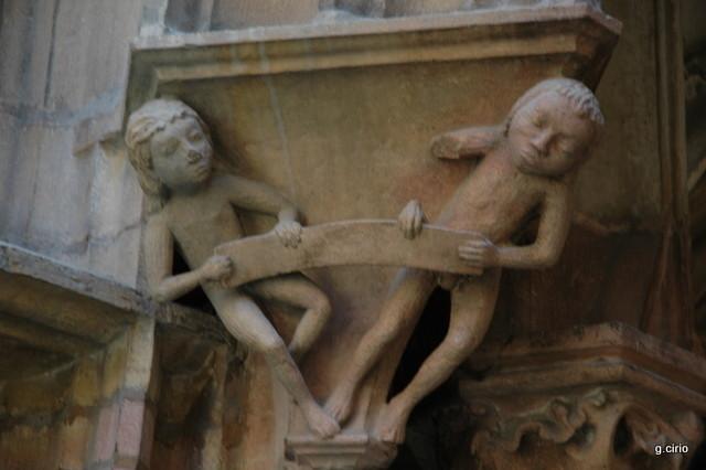 visite 34 rue des Forges détail sculpture