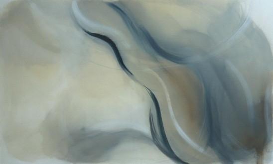Lebenslinien 9 Acrylfarbe auf Leinwand  100 x 60 cm