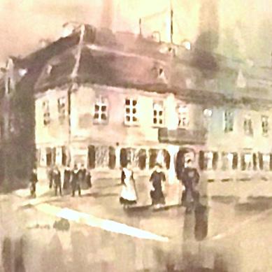 ZEITSPRUNG 6 Acryl auf  Leinwand 50 x 50 cm