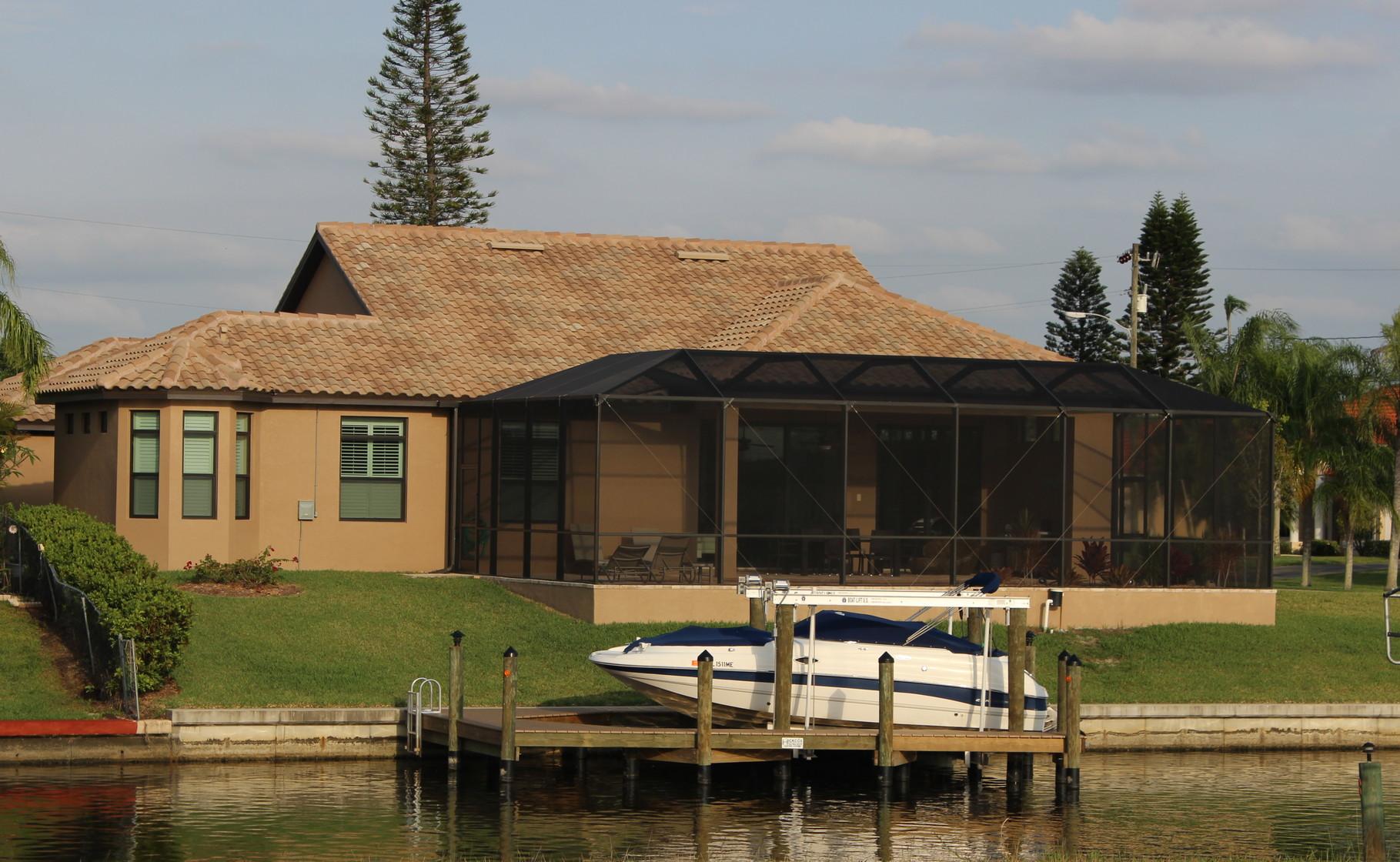Rückansicht Villa Cape Star