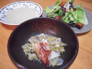 魚とフローレンスフェンネルの蒸し煮
