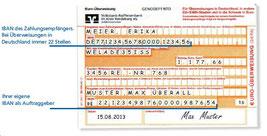 Banküberweisung Vorkasse Zahlung Swetis Lanas