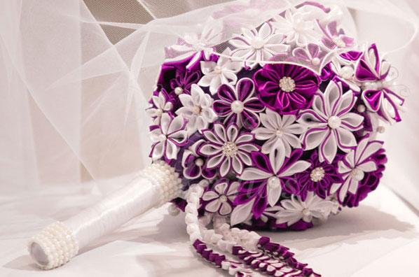 Kanzashi Brautstrauss Handgemacht Schmuck Accessoires Handgemacht