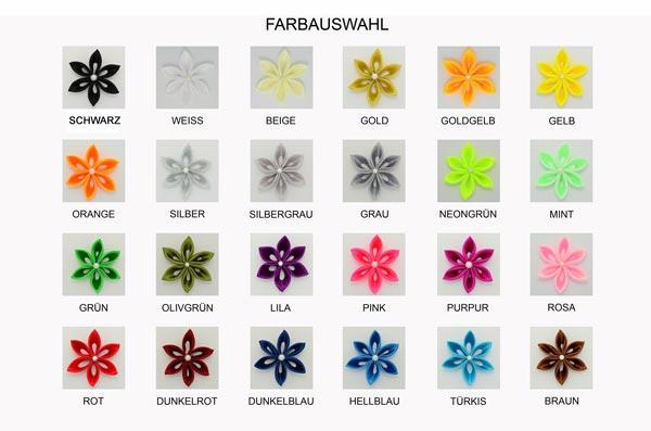 Farbauswahl, Satin, Kanzashi, Blume, Blüte