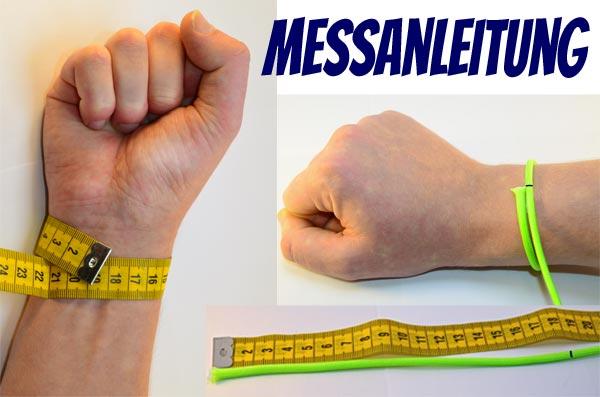 Messanleitung, Armband, Paracord, Handgelenk, Umfang