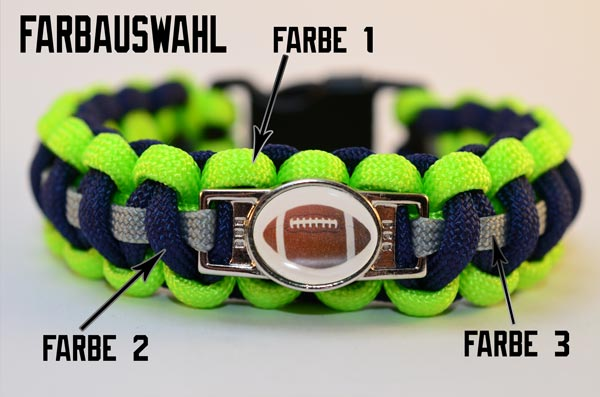 Armband Farbauswahl 3 Farben wählen Paracord, Paracord 550