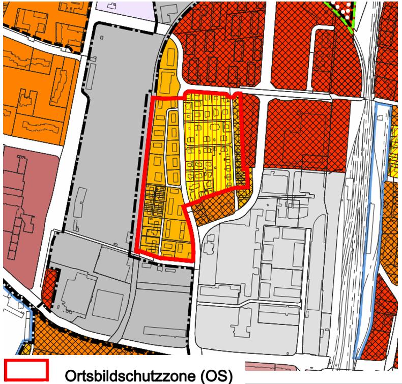 Auszug aus dem Zonenplan Stadt Zug